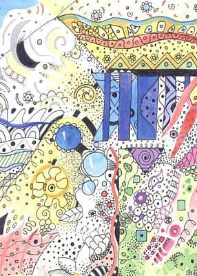 Atom Mixed Media - It Circulates by Helena Tiainen
