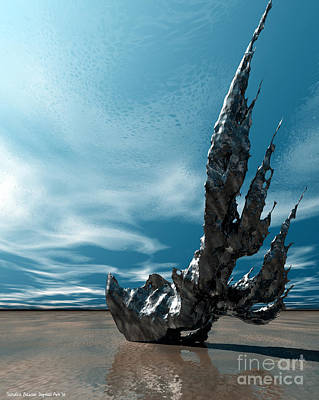 It Fell To Earth Art Print by Sandra Bauser Digital Art