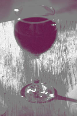 Wine Glass Photograph - It Is A Bit Fuzzy by Marnie Patchett