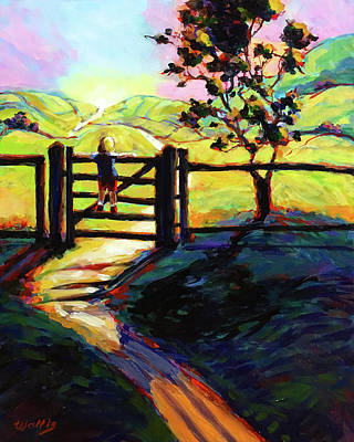 Wall Art - Painting - It Is A Great Big, Wide World Out There by Charles Wallis