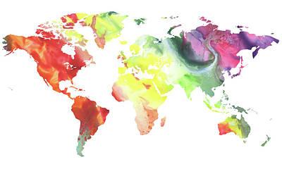 Painting - It Is Beautiful Colorful World by Irina Sztukowski