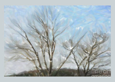 Greetingcard Painting - It Is Cold Outside by Gerlinde Keating - Galleria GK Keating Associates Inc
