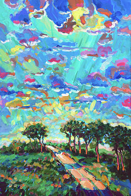 Wall Art - Painting - It Is Down The Gravel Road Aways by Charles Wallis