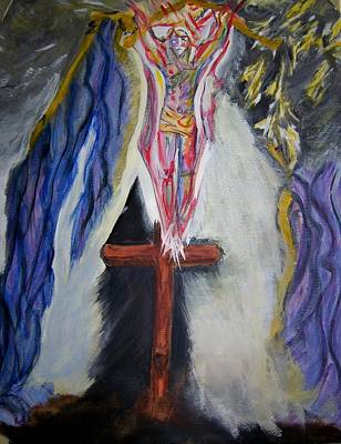 Crucifixtion Painting - It Is Finished by Ann Whitfield