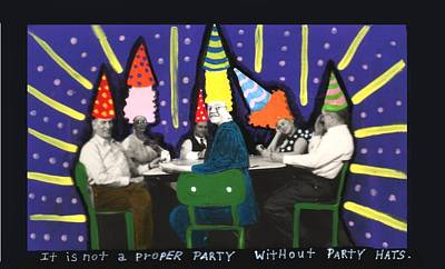 Painting - It Is Not A Proper Party Without Hats by JoLynn Potocki