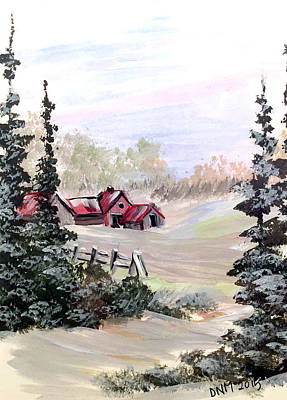 Painting - It Is Winter - 3 by Dorothy Maier