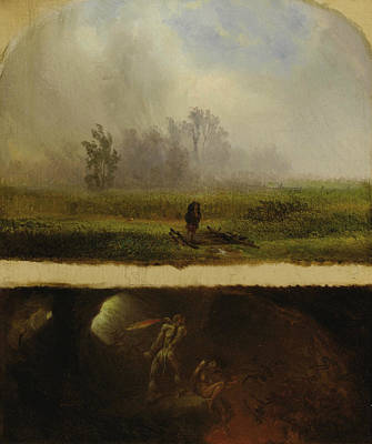 Photograph - It Rains It Shines, The Devil Whipping His Wife by William Holbrook Beard