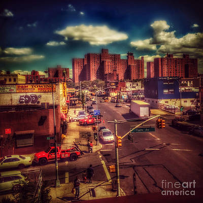 Photograph - It Takes A Village - New York Street Scene by Miriam Danar