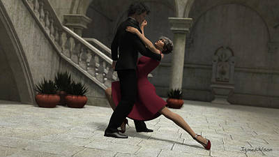 Digital Art - It Takes Two To Tango by Jayne Wilson