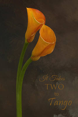 Photograph - It Takes Two To Tango With Message by Mary Buck