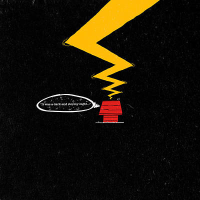 Linus Wall Art - Digital Art - It Was A Dark And Stormy Night...the Beginning by Filippo B