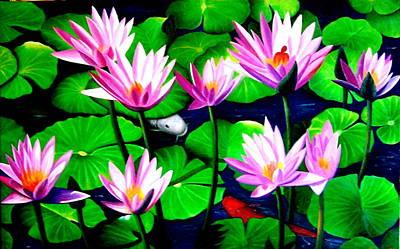 It Was Just Like A Lotus Flower Unfolding  Art Print by Yuki Othsuka