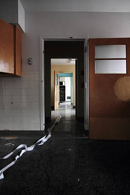 Abandoned Insane Asylum Photograph - It Went That A'way by Kreddible Trout
