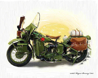 Harley Davidson Art Painting - It Won The War by Wayne Bonney
