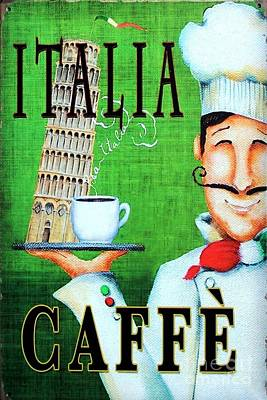Painting - Italia Caffe by Reproduction