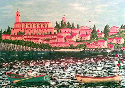 Boats In Water Mixed Media - Italia by Frank Morrison