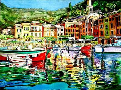 Portofino Italy Painting - Italia Spectra by Catherine Bennett
