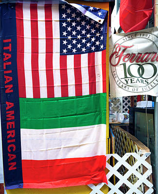 Photograph - Italian American Pride On Mulberry Street New York City by John Rizzuto