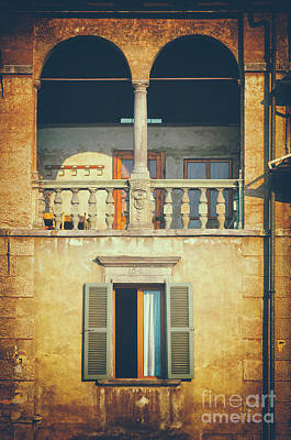 Photograph - Italian Arched Balcony by Silvia Ganora