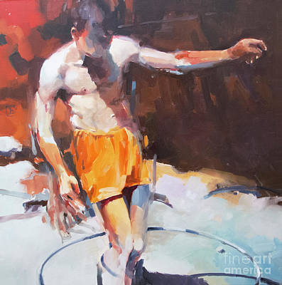 Wall Art - Painting - Italian Bathers 1 by Tony Belobrajdic