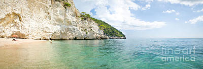italian beaches - Zagare Bay - Vieste - Gargano - Puglia - panoramic Art Print