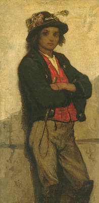 Painting - Italian Boy by William Morris Hunt