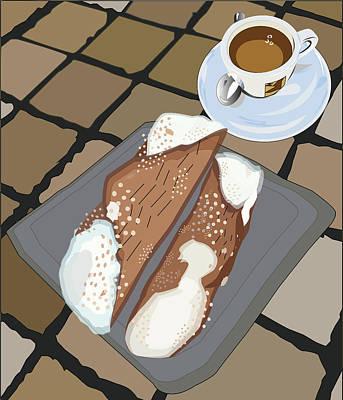 Sicily Digital Art - Italian Breakfast by Marina Usmanskaya