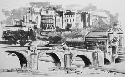 Drawing - Italian Bridge by John Keaton