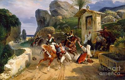 Papal Painting - Italian Brigands Surprised By Papal Troops by MotionAge Designs