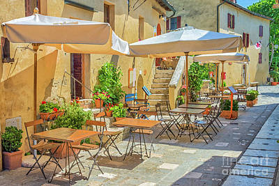 Painting - Tuscan Village by Delphimages Photo Creations
