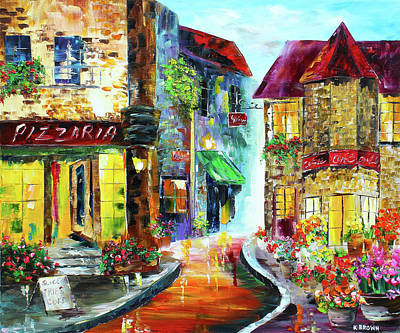 Painting - Italian Cafe by Kevin Brown