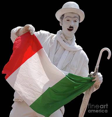 Photograph - Italian Charlie Chaplin by Frank Stallone