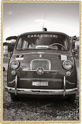 Fiat 600 Italian Classic Car Art Print