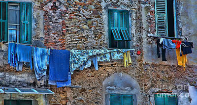 Photograph - Italian Clothes Dryer by Allen Beatty
