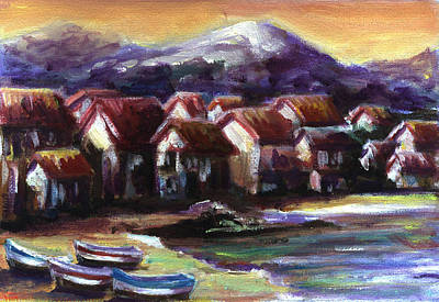 Italian Coast Art Print by Patricia Halstead