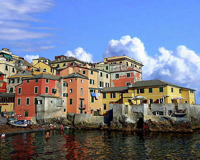 Photograph - Italian Coastal Community by Anthony Dezenzio