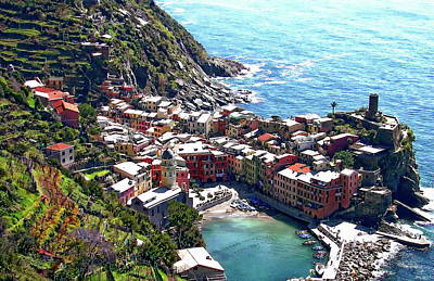 Photograph - Italian Coastal View by Anthony Dezenzio
