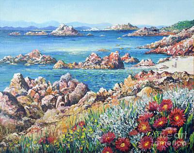 Painting - Italian Coastline by Lou Ann Bagnall