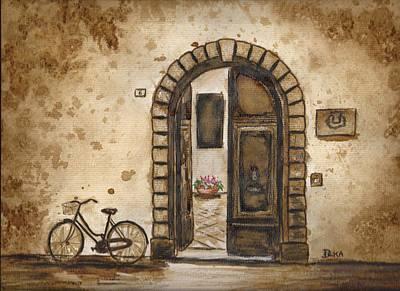 Italian Coffee Break Print by Dianne  Ilka