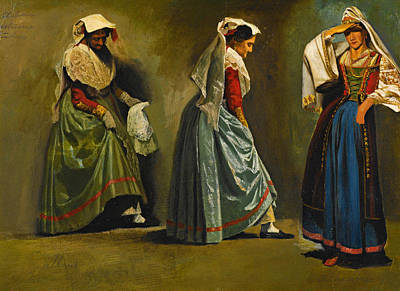 Painting - Italian Costume Studies by Albert Bierstadt
