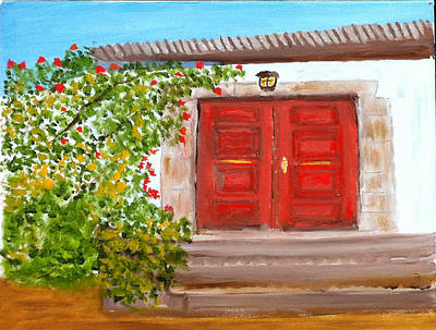 Painting - Italian Country Door Entrance by Rod Jellison