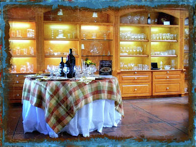 Vino Photograph - Italian Country Kitchen by Donna Blackhall