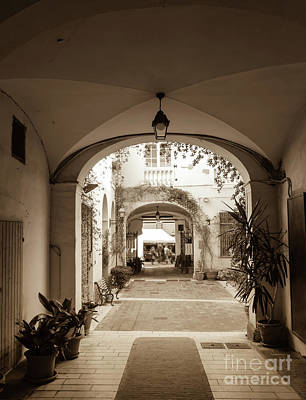 Italian Courtyard  Art Print