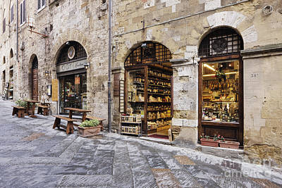 Flagstone Photograph - Italian Delicatessen Or Macelleria by Jeremy Woodhouse
