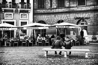 Pizzeria Photograph - Italian Dining by John Rizzuto