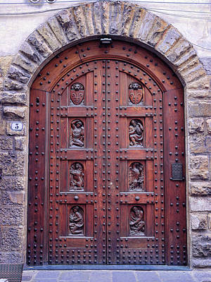 Photograph - Italian Door Art by S Paul Sahm