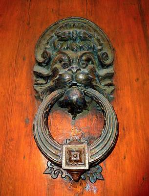 Photograph - Italian Door Knocker by Jen White