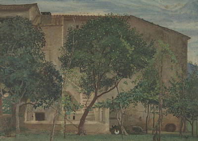Drawing - Italian Farmhouse by Walter Crane