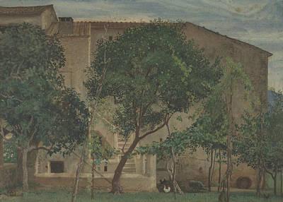 Crane Drawing - Italian Farmhouse by Walter Crane