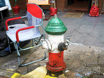 Photograph - Italian Fire Hydrant New York City by John Rizzuto